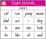 Classroom Bingo - Sight Words
