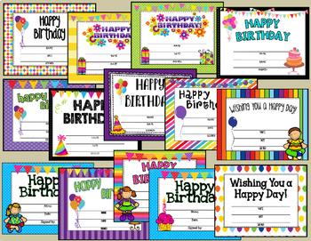 Class Birthday ~ EDITABLE