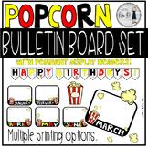 Classroom Birthday Board - Popcorn Theme