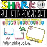 Classroom Birthday Board - Shark Theme