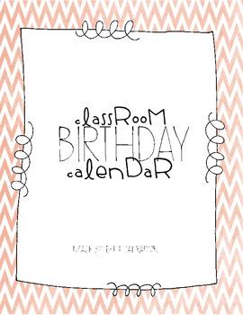 Classroom Birthday Calendar