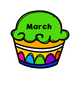 Classroom Birthday Cupcake Accents
