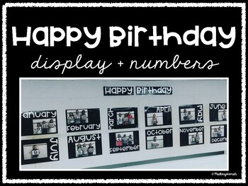 Classroom Birthday Display + Numbers