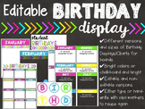 Classroom Birthday Display {Chalkboard and Brights}