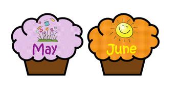 Classroom Birthday Display- Cupcakes