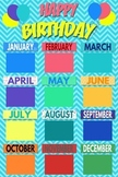 Classroom Birthday Display Poster