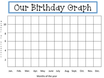 FREE - Classroom Birthday Graphing Activity
