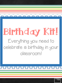 Classroom Birthday Kit