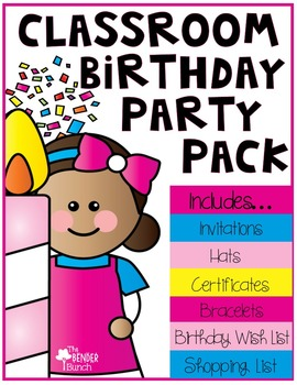 Classroom Birthday Party Pack