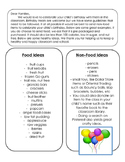 Parent Letter: Classroom Birthday Treat Ideas K-8