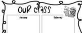 Classroom Birthdays Chart for Teacher Binder