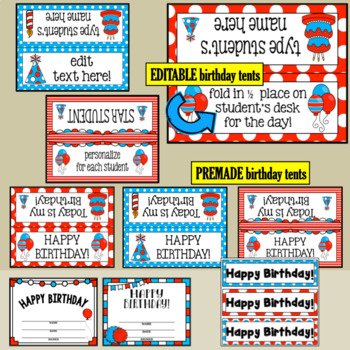 Birthday- Whimsical Theme and Editable