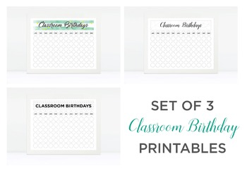 Classroom Birthdays Printable