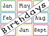 Classroom Birthdays Set