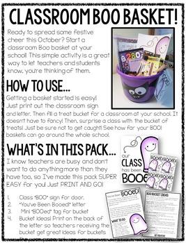 Classroom Boo Bucket Freebie
