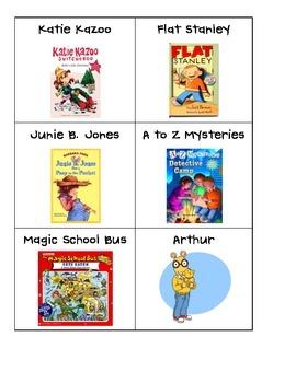 Classroom Book Bin Labels