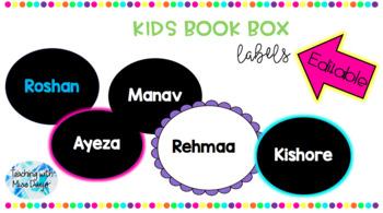 Classroom Book Box Labels (Kids Names)