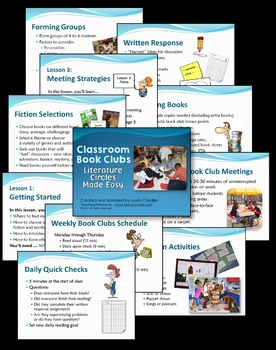 Literature Circles | Classroom Book Clubs (Step-by-Step Lessons and Printables)