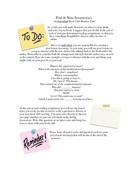 Classroom Book Clubs_Procedures, Lessons, Activities, Rubrics