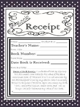 Classroom Book Receipts