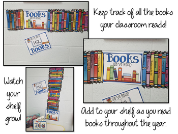 classroom book shelf display keep track of your read alouds tpt