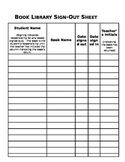 Classroom Book Sign-out Sheet