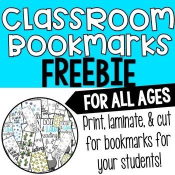 Classroom Bookmarks