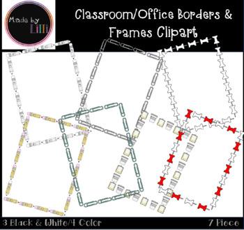 Classroom Border Frames Clipart / Office Border Frames Clipart