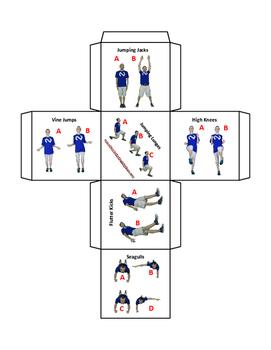 Classroom Brain Break Fitness Dice