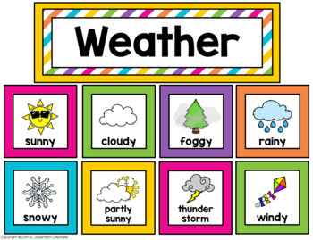 Bright Colors Calendar Set- Classroom Decor