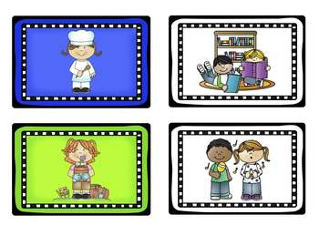 Classroom Brights Schedule Cards