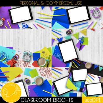 Classroom Brights Styled Mockups