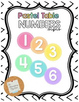 Classroom Brights Table Numbers