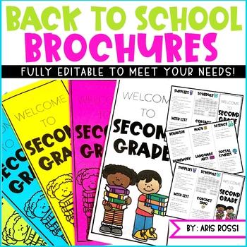 Back to School or Meet the Teacher Brochure {EDITABLE}