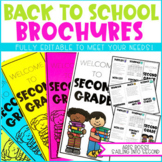 Back to School Night Brochure | Meet the Teacher Template Editable | Open House