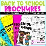 Back to School Night Brochure | Meet the Teacher | Open House