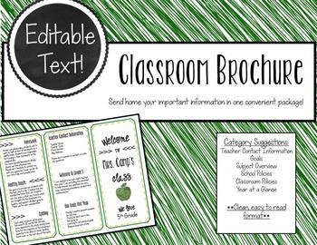 Classroom Brochure - EDITABLE TEXT