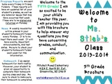 Classroom Brochure for Back to School Night