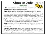 Classroom Bucks-Bee Mascot