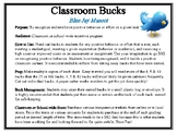Classroom Bucks-Blue Jay Mascot