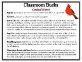 Classroom Bucks-Cardinal Mascot