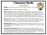 Classroom Bucks-Cougar Mascot