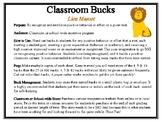 Classroom Bucks-Lion Mascot