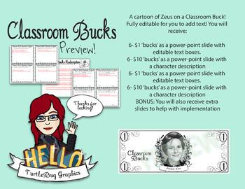 Classroom Bucks - Teacher Student Rewards Harper Lee To Kill a Mockingbird