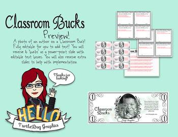 Classroom Bucks - Teacher Student Rewards Maya Angelou