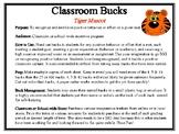 Classroom Bucks-Tiger Mascot