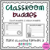 Classroom Buddies- Clock Buddies and Season Buddies