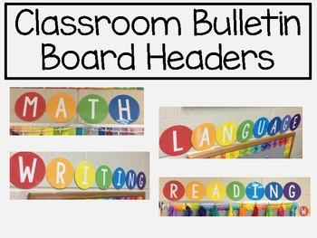 Classroom Bulletin Board Headers