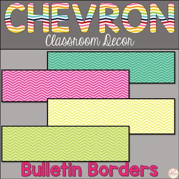 Chevron Bulletin Border-Chevron Classroom Decor