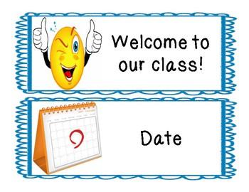 Classroom Bulletin & White Board Signs